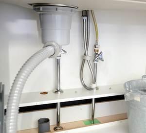 キッチン排水口のジャバラ管